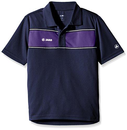 JAKO Kinder Polo Shirt Player, Marine/lila, 140