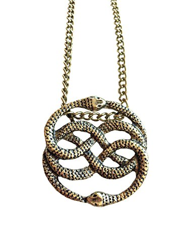giulyscreations - Collar de Metal sin níquel Inspirado en Auryn La Historia Infinita Bastian Atreiu Falcor Fantasy Snake Serpenti Medallón Cosplay