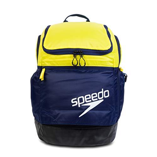 Speedo Unisex-Adult Teamster 2.0 Rucksack, Marine/Gelb/Schwarz, Talla única