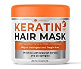 Bellisso ​Keratin Hair Mask - Hydrating Conditioner Treatment ​for​ Dry Damaged Hair - Deep Moisturizer, Intense Repair ​for​ Women