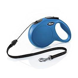 Flexi New Classic Cord Retractable Leash, Blue, Medium/26′