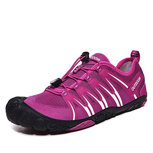 YQQMC Zapatos de agua antideslizantes para exteriores de secado rápido, zapatos de playa suaves y transpirables (color: morado, tamaño: 42EU)