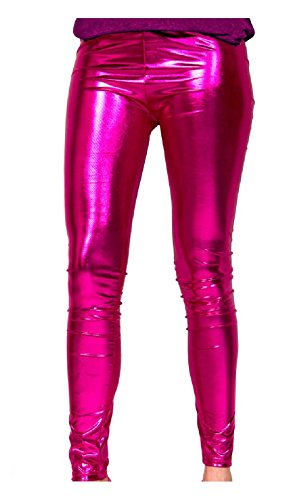 Folat 61717 - Magenta Metallic Leggings, L-XL