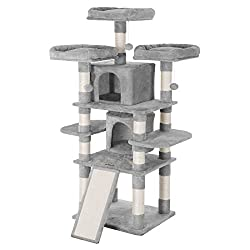 Cat tower, cat tree with scratching posts and cat beds, cat playing gym