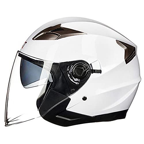 BCCDP Casco Moto Jet Hombre - Casco Moto Abierto con Doble Visera...