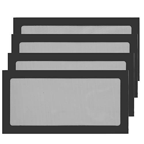S SIENOC 4PK 120 mm * 240 mm PC Chasis de computadora Ventilador Enfriador Caja de Filtro de Polvo Rejilla a Prueba de Polvo, magnética (4x120 mm * 240 mm, Negro)