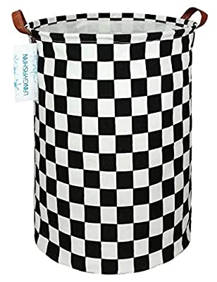 LANGYASHAN Storage Bin?Canvas Fabric Collapsible Organizer Basket for Laundry Hamper,Toy Bins,Gift Baskets, Bedroom, Clothes,Baby Nursery(Racing Flag)