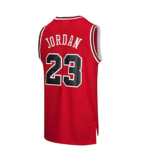 HUWAI Basketball Chicago Bulls Trikot NBA Superstar Michael Jordan 23 Atmungsaktives Streifentop D-L