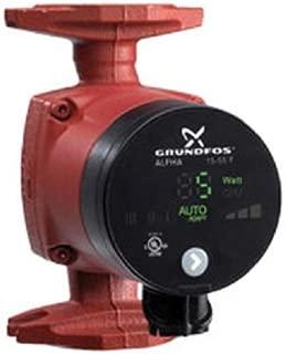 Grundfos ALPHA 15-55F (59896877) Pump, Electronic Circulator 115V 1/16 HP w/ Terminal Box - Cast Iron