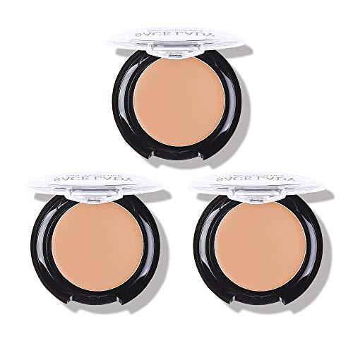 3 Pack Full Coverage Concealer Cream Makeup, Waterproof Matte Smooth Concealer Corrector for Dark Spot Under Eye Circles (#40 Natural)