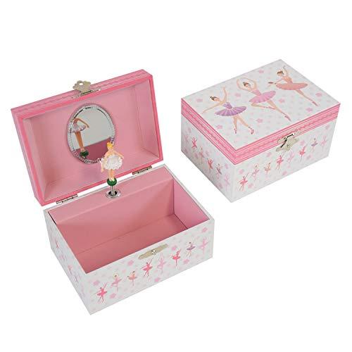 LAxury Music Jewelry Box Music Jewelry Box for Girl Ballerina Jewelry Gift Box