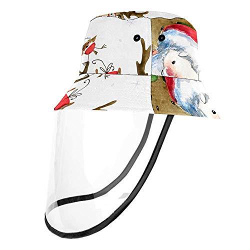 TIZORAX - Cappellino protettivo con Babbo Natale e renne, protezione per naso e bocca con protezione antipolvere per adulti e bambini
