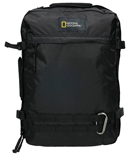 National Geographic Hybrid Rucksack, 50 cm, 30L, Black