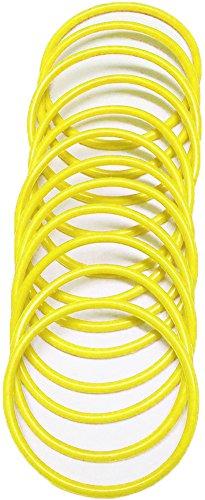 A-Express® Armreif im 1980er-Stil, neonfarbe, aus Gummi, Armband, gelb