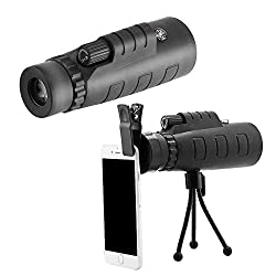 Ratzs Lens for Mobile Works Night Vision 40x60 Single Mini HD Monocular Phone Camera Lens Telescope Kit Combitable for Intex Young