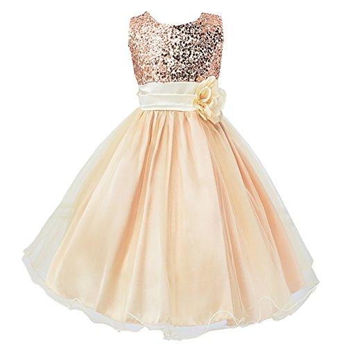 LPATTERN Elegante Vestido Flores Sin Mangas Verano Ceremonia Fiesta Princesa Casual Infantiles...