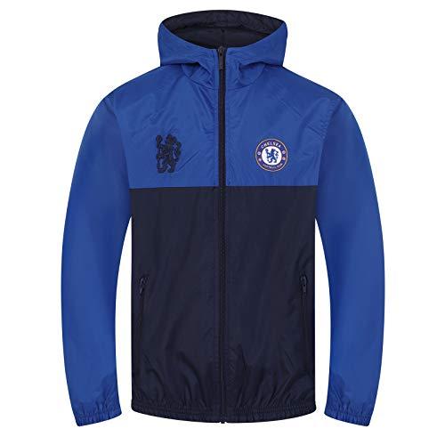 Chelsea FC - Jungen Wind- und Regenjacke - Offizielles Merchandise - Geschenk für Fußballfans - 12-13 Jahre