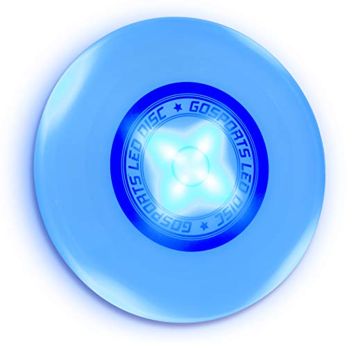 GoSports Ultimate Light Up Flying Disc, 175 Grams, with 4 LEDs - Blue