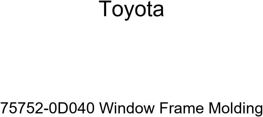 TOYOTA Genuine 75752-0D040 Molding Frame Window Popular brand Ranking TOP6