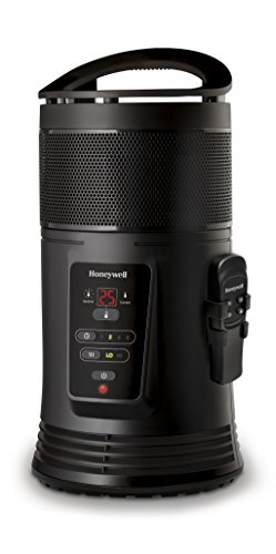 Honeywell HZ445E keramische warmtestraler 360 ° surround met afstandsbediening/smart thermostaat, 1800 W, zwart