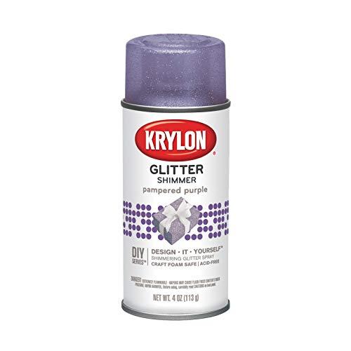 Krylon I00406000 Pampered Purple Glitter Shimmer Spray, 4 ounces