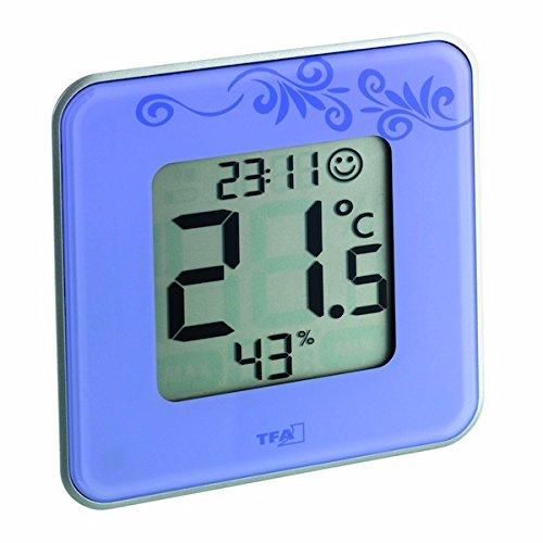 TFA-Dostmann 30.5021 Style Thermomètre-hygromètre numérique Viole/Motifs