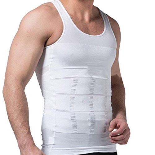 Herren Abnehmen Vest/Instant Abs/Herren GYM WEAR/Herren Abnehmen Body Shaper Gürtel Unterwäsche/Taille Training Korsetts für Männer/Herren Body, schwarz