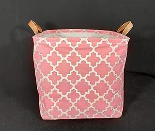 N / A Simple Toile Tissu Panier de Rangement carré boîte de Rangement Jouet Sac de Rangement avec poignée Bureau à Domicil...