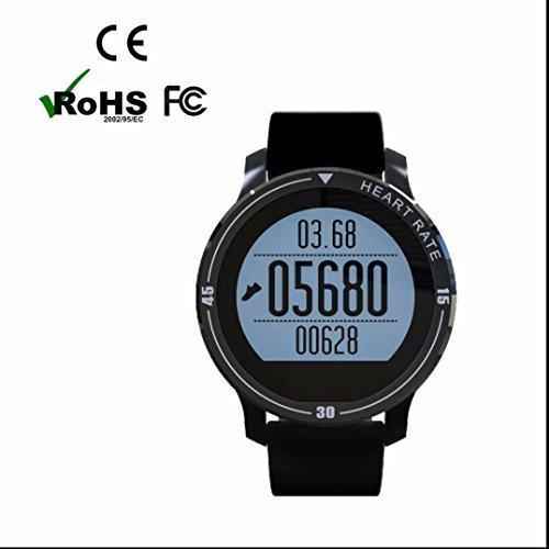 Pedometro orologio fitness con Cardiofrequenzimetro da Polso Contapassi Braccialetto Pedometro Allarme per iPhone IOS Android IOS Phones per Walking Running