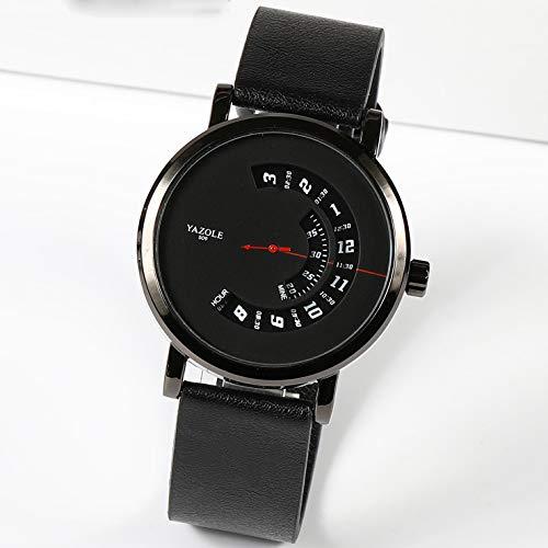 Lvmiao Moda Simple Watch, Reloj de Temperamento Fresco, Trend Tendencia de Personalidad Creative Sconcept Watch, Reloj Masculino y Mujer Estudiante,3