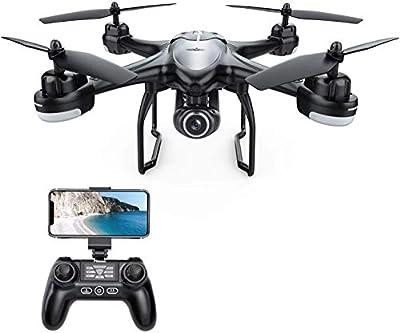 Potensic T18 GPS Drone with 1080P Camera, FPV Remote Control Quadcotper, Dual GPS Return Home, Follow Me, Adjustable Wide-Angle Camera, Altitude Hold, Long Control Range -Black