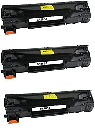 3  PACK Office Station CF283A HP83A Compatible Toner Cartridge 1500 Pages Black replace for LaserJet M127fn// M127fw//MFP M125nw//MFP M125rnw