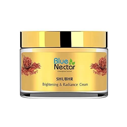 Blue Nectar Ayurvedic Sandalwood Face Cream for Skin Brightening & Glowing Skin | Day & Night Face Moisturizer for Daily Use(Women, 13 Herbs 50 g)