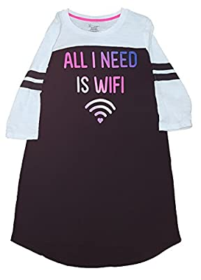 All I Need Is WiFi Nightgown Long Sleep Shirt - Small from