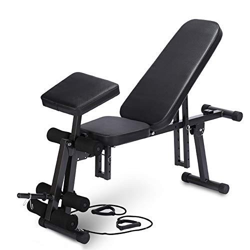 YQYM Klappbare Hantelbank - Schrägbank Bauchtrainer Verstellbare Sit-Up-Bank, Multifunktion Training Fitness Bank Set für Ganzkörpertraining - #3