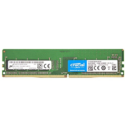Crucial DDR4-2400 4GB/512Mx64 CL17 Memory CT4G4DFS824A