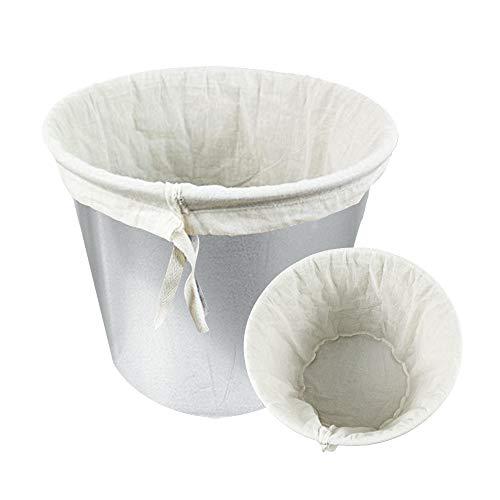 VINFUTUR 2 Stücke Nussmilchbeutel Passiertuch Filterbeutel Baumwolle Feinmaschiges Seihtuch Wiederverwendbar Filtertuch für Mandelmilch Obstsaft Kaffee, 2 Größe