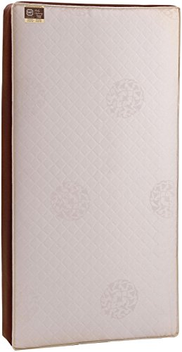 Stearns & Foster Baby Dynasty Sunrise 2-Stage Infant/Toddler Crib Mattress -204 Premium Coils, Luxurious Quilted Cotton Cover, Breathable Edges, Soybean Cool Gel Memory Foam, Cotton, 52'x28'