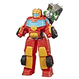 Transformers Playskool Rescue Bots Academy - Robot Secouriste Hot Shot de 35cm - Jouet transformable 2 en 1