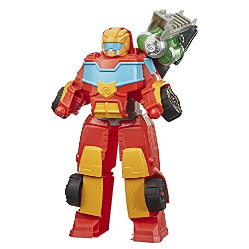 Transformers Playskool Heroes Rescue Bots Academy Rescue Power Hot Shot Converting Toy Robot, 14-Inch Collectible Action Figure Toy for Kids Ages 3 and Up