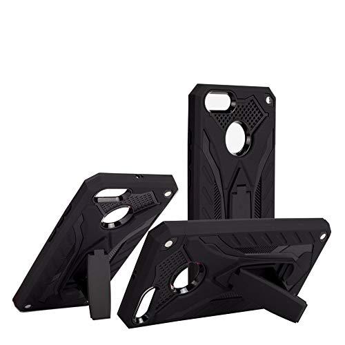 COOVY® Cover für Xiaomi Mi A1 Bumper Case, Hülle Doppelschicht aus Plastik + TPU-Silikon, extra stark, Anti-Shock, Standfunktion   schwarz