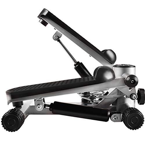 YUESFZ Stepper Stepper Test Multifunktionaler Schrittloser Stepper Leise Bergsteigerpedalmaschine Fußmassage Fitnessgeräte (Color : Black+Silver, Size : 43 * 33 * 20cm)