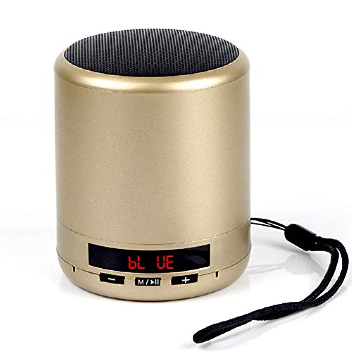 ネコシェーバージャムEryanone 電話でのPCのためのミニポータブルBluetoothのスピーカーラジオ塔低音法的ステレオサブウーファーハンズフリーAUX TFカードUSB MP3プレーヤー(ゴールデン)新しいです (色 : Golden)