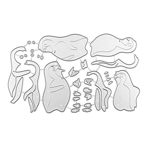 Mmnas Pinguin Stanzformen Stanzmaschine Stanzschablone, Scrapbooking Prägeschablonen Stanzformen Schablonen Für Scrapbooking, Fotopapier, Karten, Handwerk Prägen
