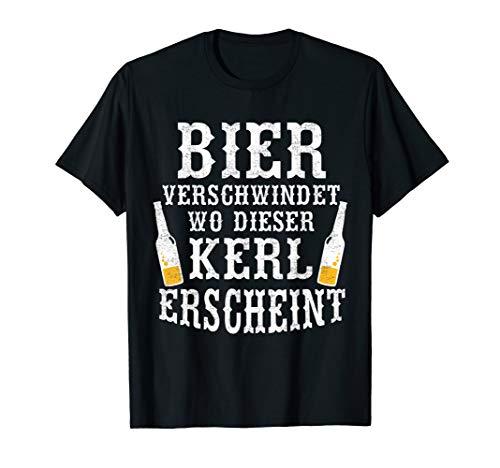 Bier Verschwindet Wo Dieser Kerl Erscheint Lustiges Bier T-Shirt