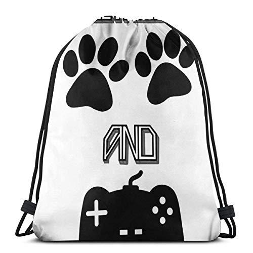 All I Need Dogs and Gaming- Bolsa de regalo para amantes de perros, con cordón