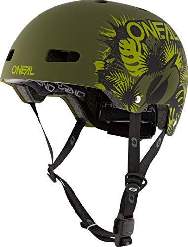 O'NEAL | Mountainbike-Helm | Enduro All-Mountain | Lüftungsöffnungen zur Belüftung & Kühlung, Größenverstellsystem, Zone Flex-Technologie| Helmet Dirt Lid ZF Plant | Erwachsene | Grün | Größe M/L