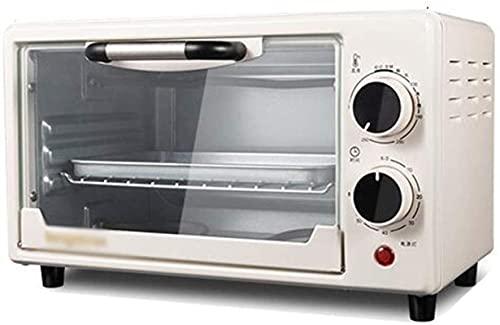 Mini horno, superficie de acero inoxidable multifunción, recordatorio regular, tubo de calentamiento doble, potencia de 750 vatios, capacidad 10L