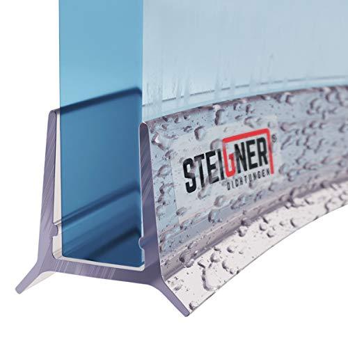 STEIGNER Duschdichtung, 40cm, Glasstärke 5mm/ 6mm, Vorgebogene PVC Ersatzdichtung für Runddusche, UK24-06
