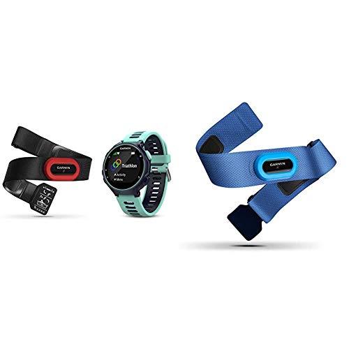 Garmin Forerunner 735XT-GPS-Uhr, Frost blau, M, 010-01614-16 & Premium Herzfrequenz-Brustgurt HRM-Swim - zur Herzfrequenzmessung unter Wasser, rutschfestes Design zum Schwimmen
